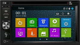 DVD GPS Navigation In Dash Radio and Dash Kit for Kia Sportage 2011-16 Grey image 2