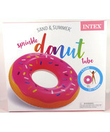 """Intex Sand And Summer Strawberry Sprinkle Donut 39"""" Inflatable Pool Floa... - $27.79"""