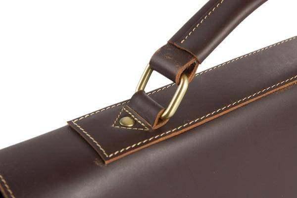 Sale, Vintage Leather Messenger Bag, Men's Leather Briefcase image 6