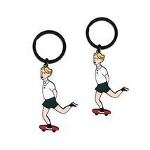 Set Of 2 Creative Endearing Retro Style Key Chain/Car Key Ring (Juvenile)