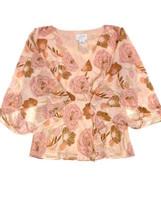 Ann Taylor Loft Pink Chiffon Floral Blouse Size 0 - $10.00