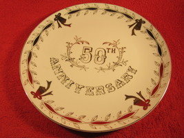 """10"""" Porcelain Collector Plate 50th Anniversary Lefton Japan - $11.16"""