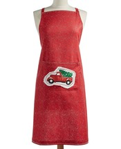 Martha Stewart Collection Red Christmas Holiday Graphic Apron REG $49 - $12.86