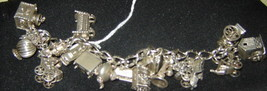 Beau Vintage Sterling Silver Charm Bracelet/ 19 Charms!!!!! - $297.00