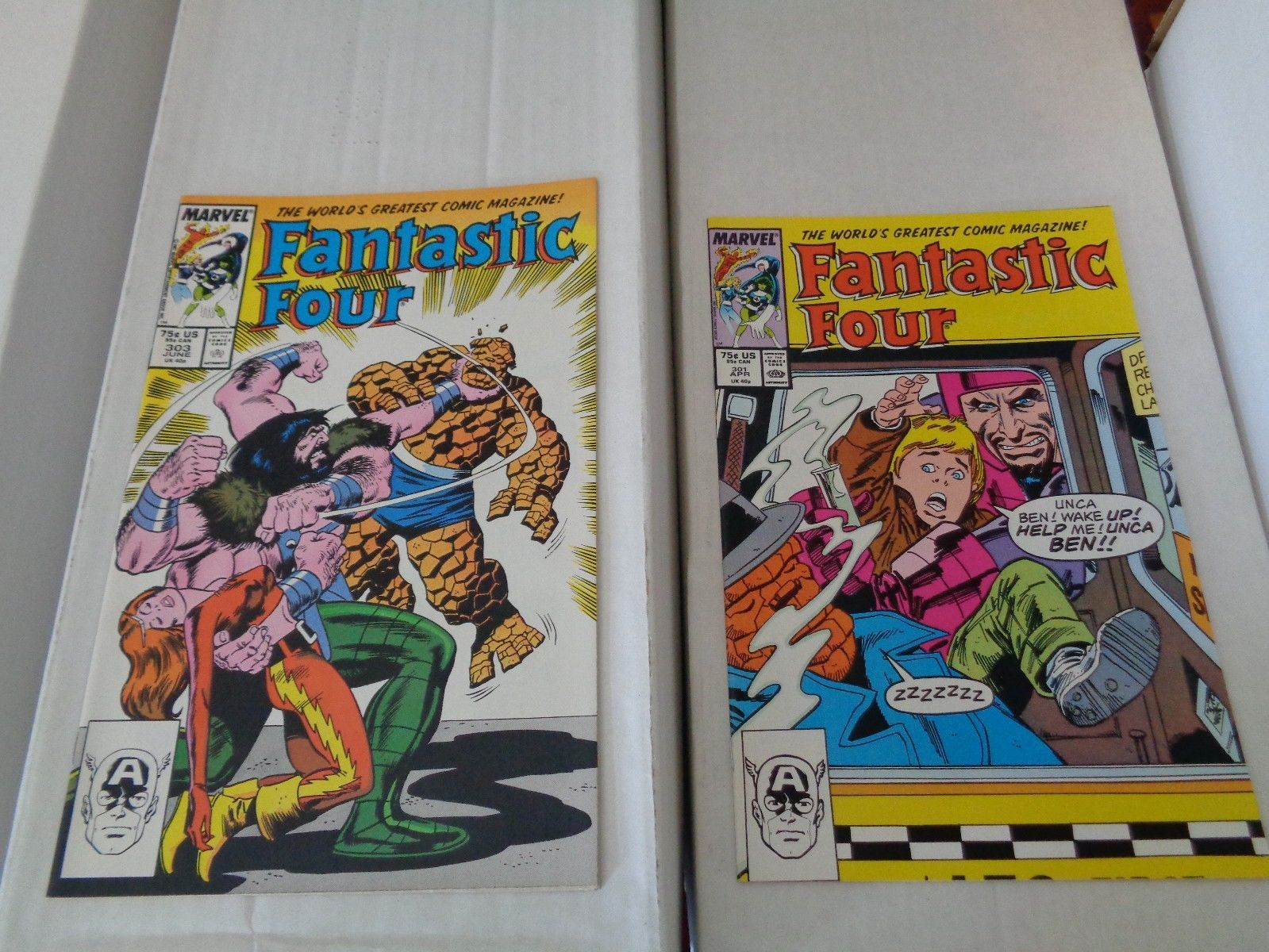 Fantastic Four 298-309 1987 Complete Run Of 12 NM/M Condition Marvel Comic Book