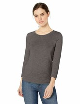 Daily Ritual Women's Lightweight Lived-In Cotton 3/4-sleeve T-Shirt, Cha... - $12.19