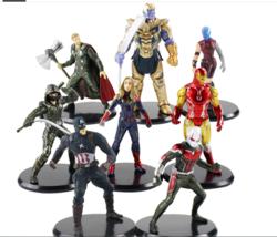 8pcs/lot Endgame Avengers Action Figures Thanos Iron Man Thor Captain America - $19.79
