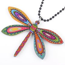 dragonfly necklace pendant acrylic  2015 news accessories spring summer cute des image 2