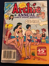 1987 THE ARCHIE DIGEST LIBRARY ARCHIE ANNUAL COMICS DIGEST MAGAZINE NO. 51 - $5.85
