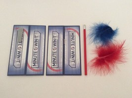 Minute To Win It Board Game Clip Tube Tower Feathers Pencil 2011 Replacement - $6.79