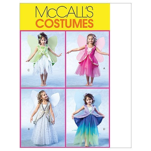 Primary image for McCall's Patterns M4887 Children's/Girls' Fairy Costumes, Size CL (6-7-8)