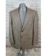 Brooks Brothers 346 blazer 44  jacket Wool brown plaid - $18.69