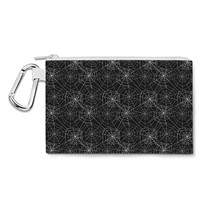 Spider Webs Canvas Zip Pouch - $15.99+