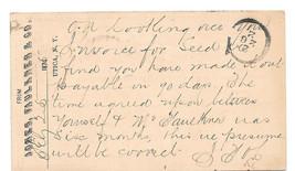 UX3 1874 Postal Stationery Card 1Utica NY Fancy Cork Cancel Jones Faulkn... - $5.49