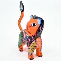 Handmade Alebrijes Oaxacan Copal Wood Carving Folk Art Lion Figurine image 2