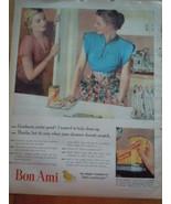 Vintage Bon Ami Cleanser  Print Magazine Advertisement 1945 - $8.99