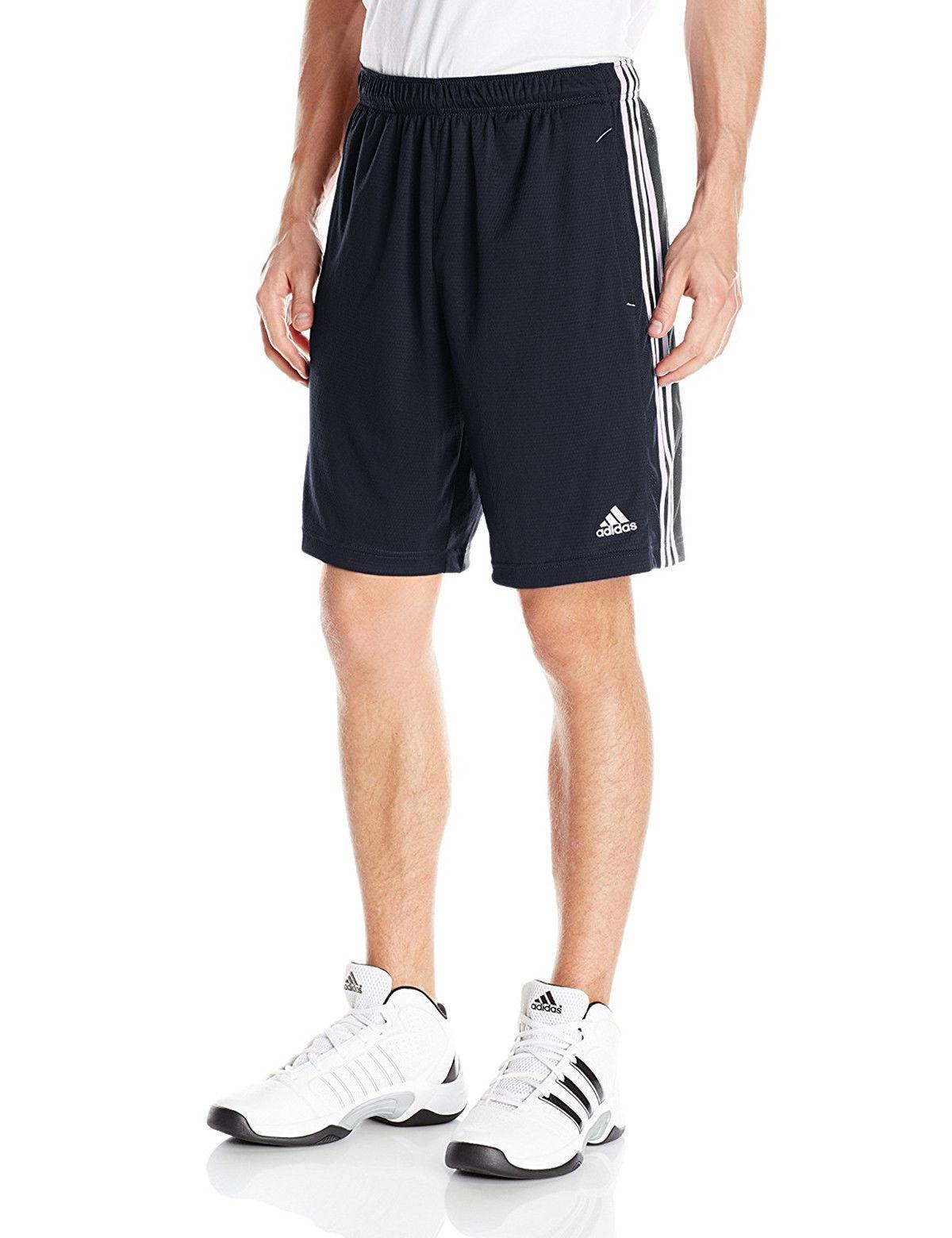 Navy White size Medium Adidas Men/'s Climalite Training Athletic Shorts