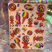 Rare HTF Vintage Lisa Frank Sticker Sheet S158 Bubblegum Machine Candy Pop!