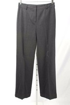 Anne Klein Size 6P Gray Cuffed Straight Leg Dress Pants 2635 T417 - $22.49