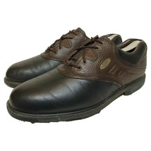 FootJoy Mens eComfort Softspikes Black Brown Oxfords Golf Cleats 57714 S... - $34.64