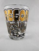 Oregon Vintage Libby Shot Glass Central Lost Lake Logging Toothpicks Gol... - $9.89