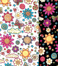 Very Rare Quilt Fabrics Buggy Land Bundle,Michael Miller,Kids, Bug, Sun,... - $163,63 MXN