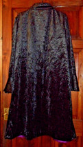 Gothic black velvet jacket/cape with purple lining and fluted sleeves. Handmade - $50.49