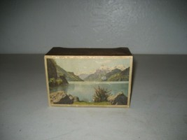 Vintage Swiss Music Jewelry wood Box 2 songs working - $98.99