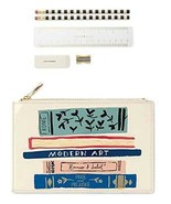 Kate Spade New York Pencil Pouch Stack of Classics *New - comes Without ... - $26.68