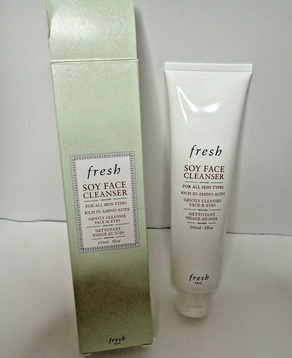 Primary image for Fresh Soy Face Cleanser 5fl oz 150 ml All Type Skin Face & Eyes Amino Acids NIB