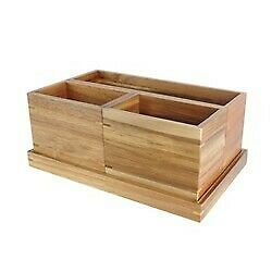"""Modular Vanity Organizer With Magnetic Strip Wood 11.25""""x7""""x4.5"""" -  new store"""