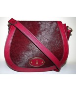 NEW WOMEN'S FOSSIL LEATHER VINTAGE REISSUE CROSSBODY SHOULDER BAG CRANBERRY - $138.55
