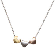SPUNKYsoul Handmade 3 Heart Necklace Collection (Silver Chain with Gold ... - $55.42
