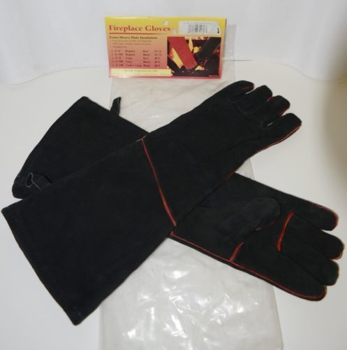 Minuteman International A13B Fireplace Black Suede Gloves