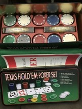 Texas Hold'em Poker Set Cardinal Opened Unused Sealed Parts - $24.65