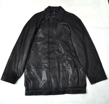 KENNETH COLE REACTION Black Leather Jacket S Mens - $48.93