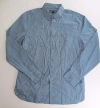 John Varvatos Star Usa Pinstripe Long Sleeve Slim Shirt, Blue Stone, Large - $34.64