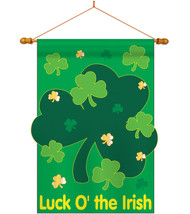 Luck O' the Irish - Applique Decorative Wood Dowel with String House Fla... - $46.97