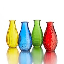 Style Setter Assorted Gems Colored Glass Vases Set of 4 - $41.00