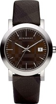 Burberry BU1775 Large Check Brown Swiss Made Leather Womens Watch - $179.55