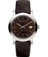 Burberry BU1775 Large Check Brown Swiss Made Leather Womens Watch - $269.33