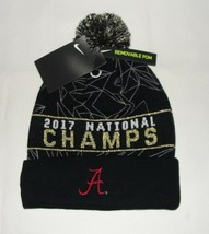 Nike Alabama College Football 2017 National Champs Celebration Pom Knit Hat  - £14.27 GBP