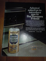 Vintage Admiral Bar Keepers Friend Print Magazine Advertisement 1975 - $2.99