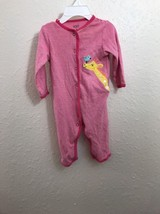 Carter's Infant girls 6 mo sleeper pink with snap closure - $6.99