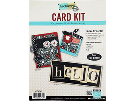 Bazzill Archiver's Card Kit, Occasions Worth Remembering, Makes 12 Cards!