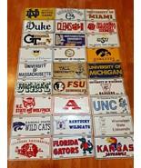 Lot Of 27 College University sport metal License Plates All Different Ne... - $237.59