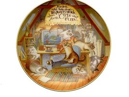Danbury Mint The Wonderful Wisdom of Cats Easier Said Than Done Cat Collector Pl - $35.67