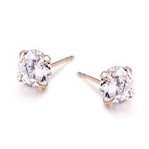 Gold Color Star Stud Earrings Women Brincos Crystal Zirconia Earings Fashion - $7.99