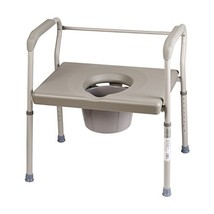 DMI Bedside Commode Chair, 500 lb Capacity Heavy-Duty Steel Commode Toil... - $79.02