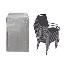 Patio Stackable Chairs Cover Patio Chair Covers Waterproof Durable Grey ... - $23.81
